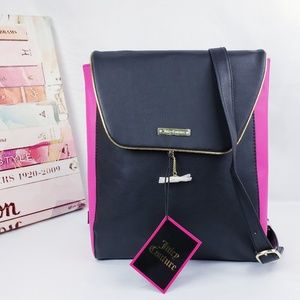 Juicy Couture Hot Pink & Black Backpack